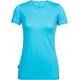 Icebreaker Spector Shortsleeve Shirt Women turquoise
